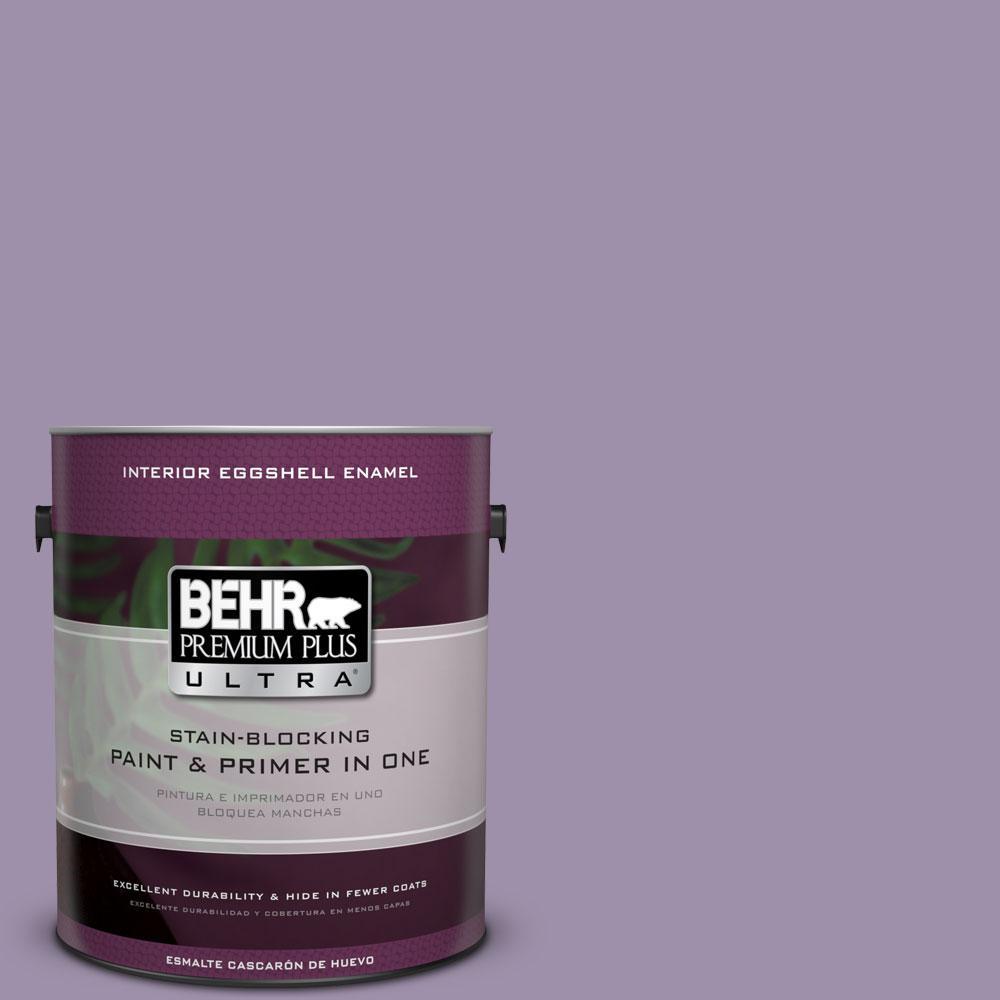 BEHR Premium Plus Ultra 1-gal. #S100-4 Ancestry Violet Eggshell Enamel Interior Paint