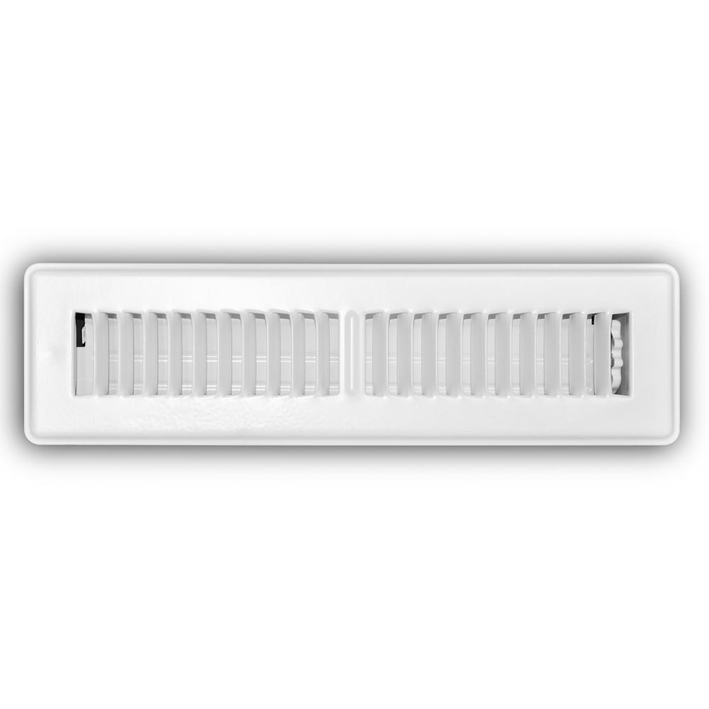 Everbilt 2 in  x 12 in  White Floor Diffuser-E150MW 02X12