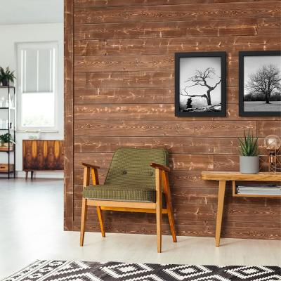 1 in. x 6 in. x 6 ft. Canyon Brown Charred Wood Pine Shiplap Board (4-pack)