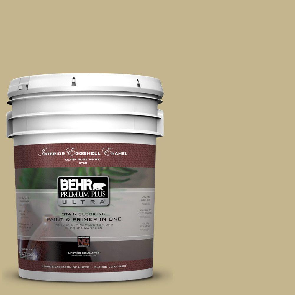 BEHR Premium Plus Ultra 5-gal. #BIC-27 Modish Moss Eggshell Enamel Interior Paint