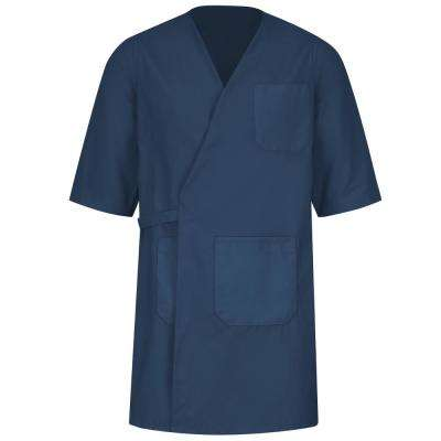 Unisex Size 3XL Navy Collarless Butcher Wrap
