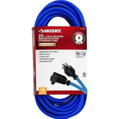 25 ft. 16/3 (-50°) Cold Weather Indoor/Outdoor Extension Cord, Blue