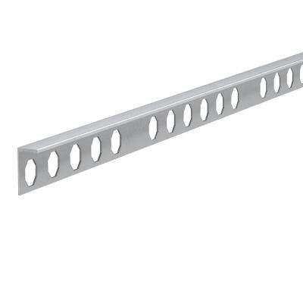 Novosuelo Matt Silver 3/16 in. x 98-1/2 in. Aluminum Tile Edging Trim