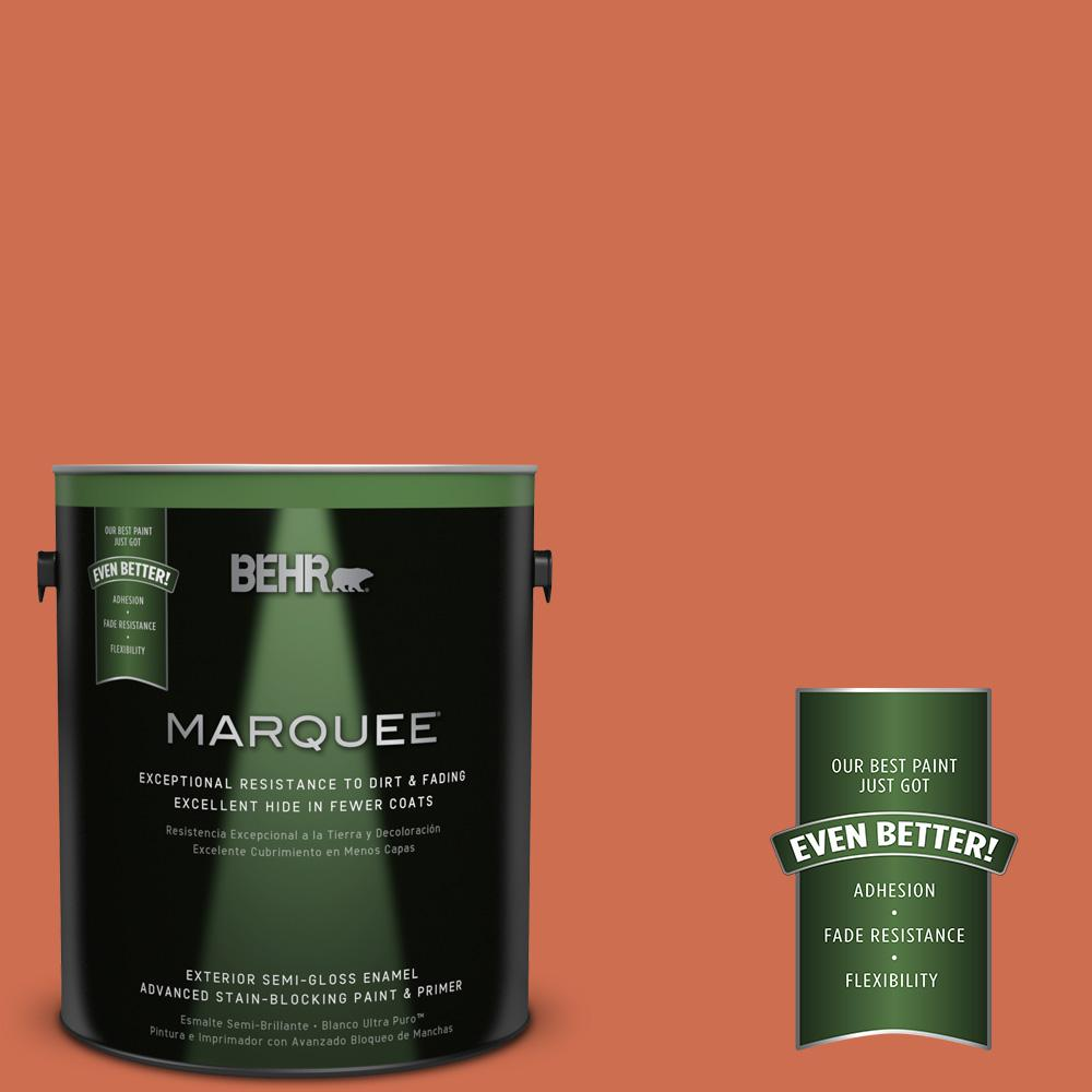 BEHR MARQUEE 1-gal. #M180-6 Tiki Torch Semi-Gloss Enamel Exterior Paint