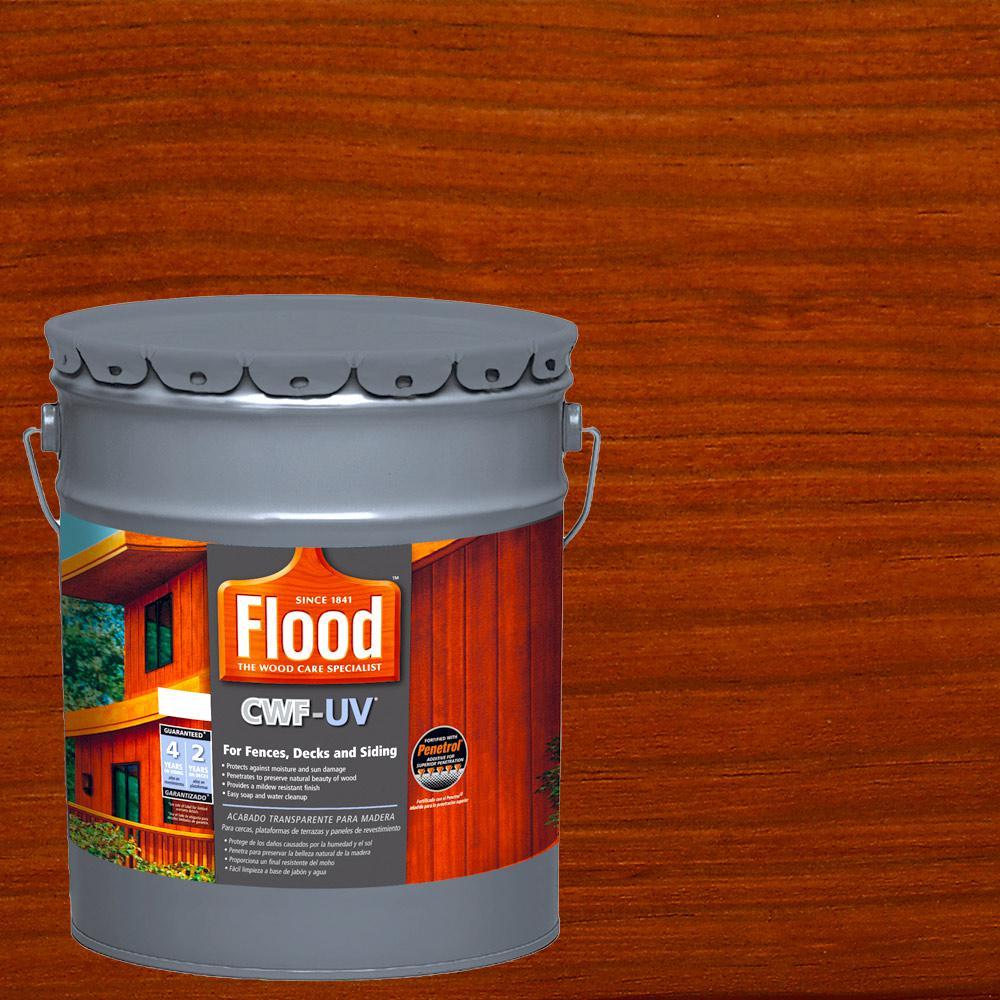 Flood 5 gal. Redwood Transparent CWF-UV Penetrating Exterior Wood Stain