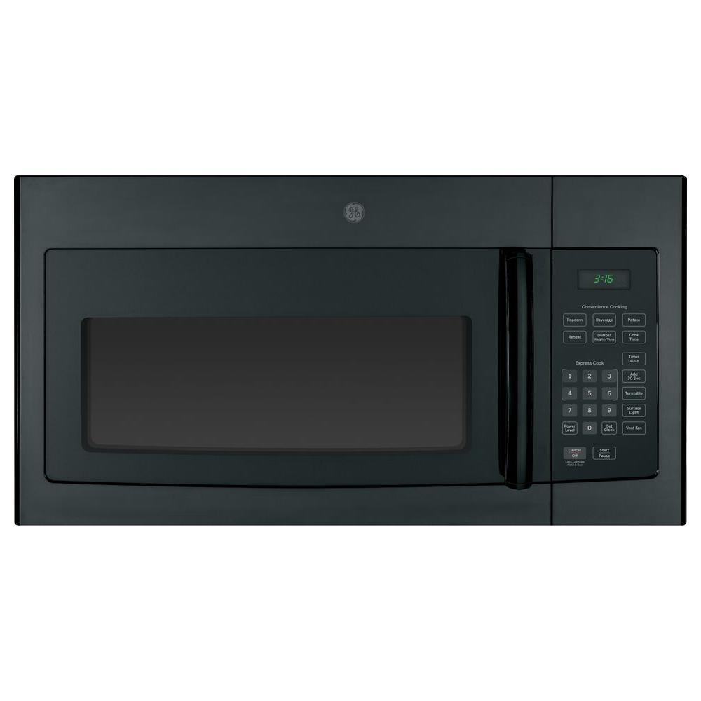 Ge 1 6 Cu Ft Over The Range Microwave Oven In Black