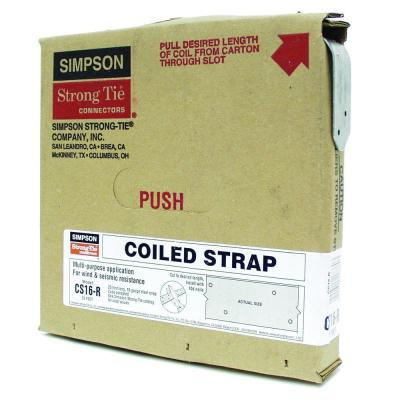 CS 25 ft. 16-Gauge Galvanized Coiled Strap