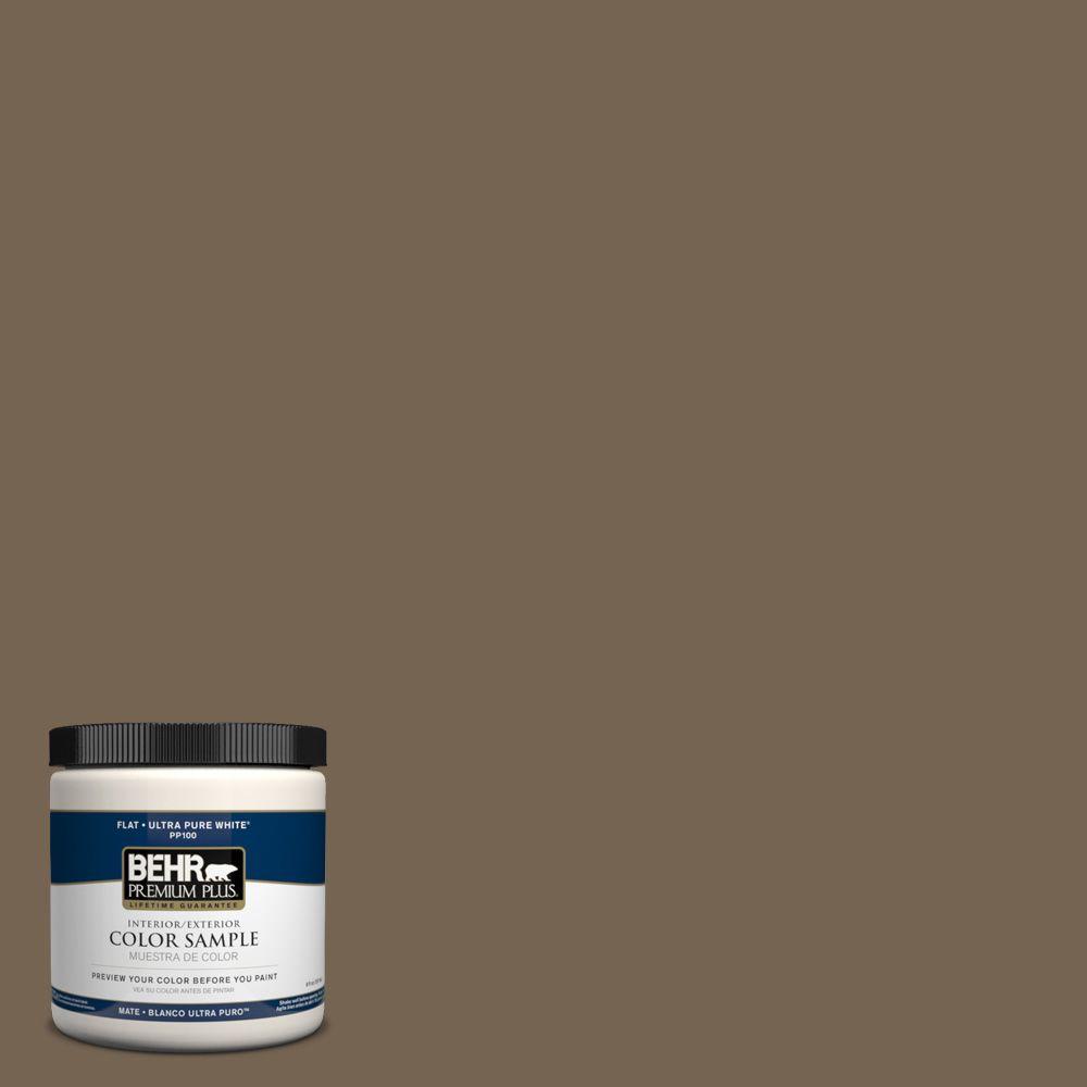 8 oz. #HDC-SM14-4 Tan Bark Trail Interior/Exterior Paint Sample