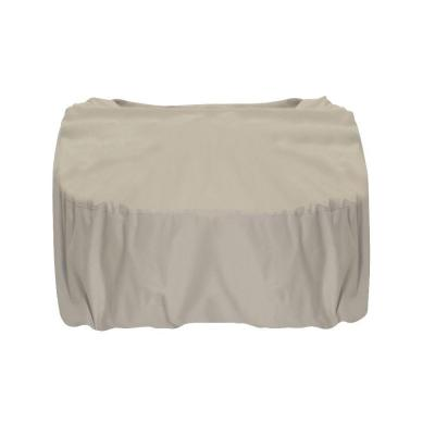 44 in. Square Polyester Fire Pit Cover in Khaki