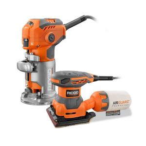 Deals on RIDGID 5.5 Amp Corded Fixed Base Trim Router w/Sheet Sander