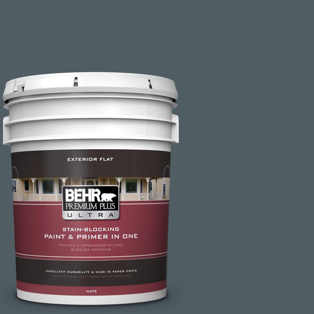 BEHR Premium Plus Ultra 5-gal. #740F-6 Marine Magic Flat Exterior Paint