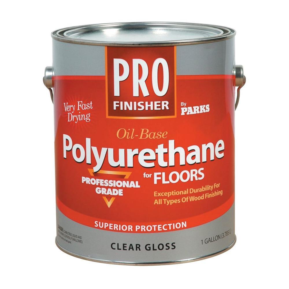 Rust-Oleum Parks Pro Finisher 1 gal. Clear Gloss 275 VOC Oil-Based Polyurethane for Floors (4-Pack)