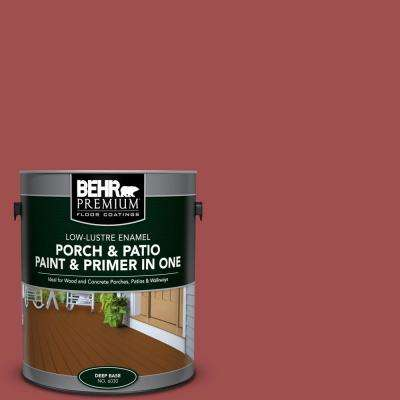 1 gal. #M150-7 Sweet Cherry Low-Lustre Interior/Exterior Paint and Primer In One Porch and Patio Floor Paint