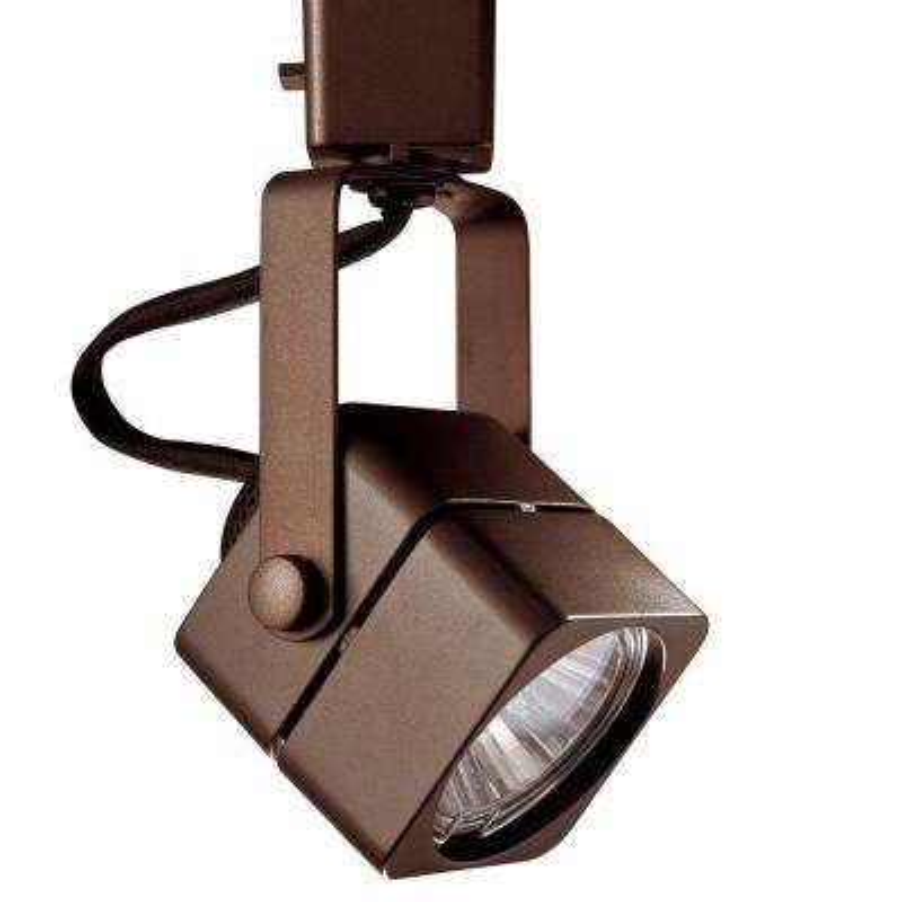 Series 15 Line-Voltage GU-10 Oil-Rubbed Bronze Soft Square Track Lighting Fixture