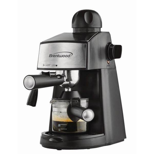 Brentwood 2.5-Cup Black Stainless Steel Espresso Machine