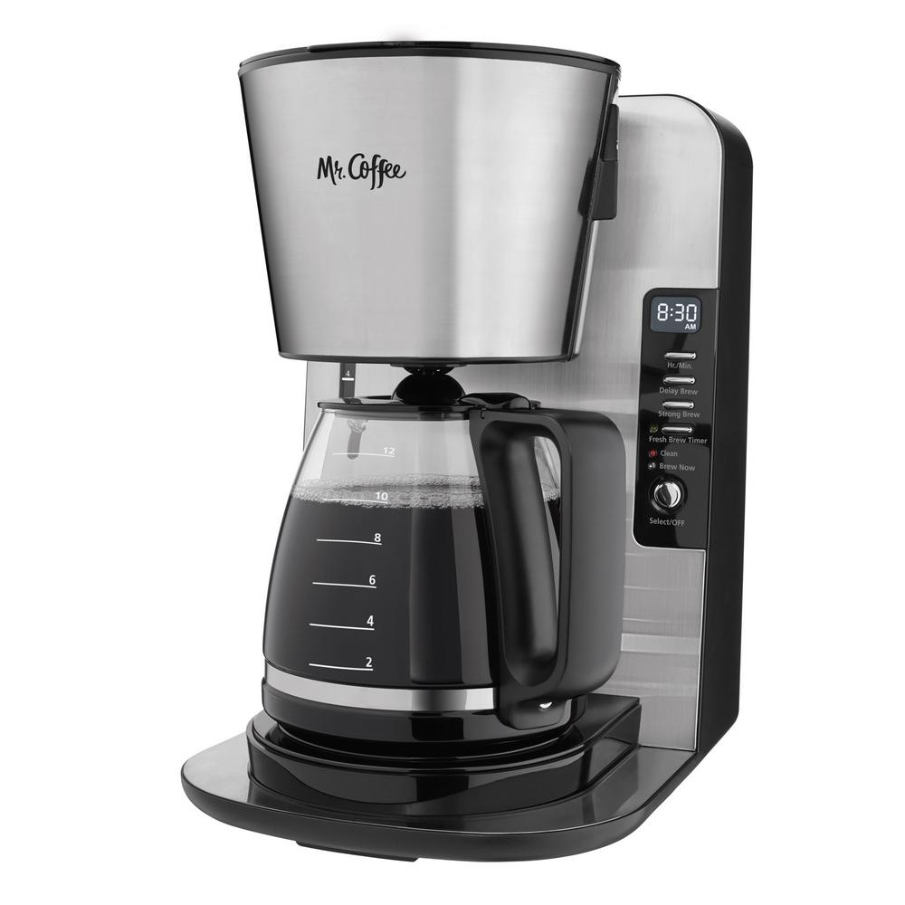 Mr Coffee 12 Cup Stainless Programmable Advanced Brew Coffee Maker