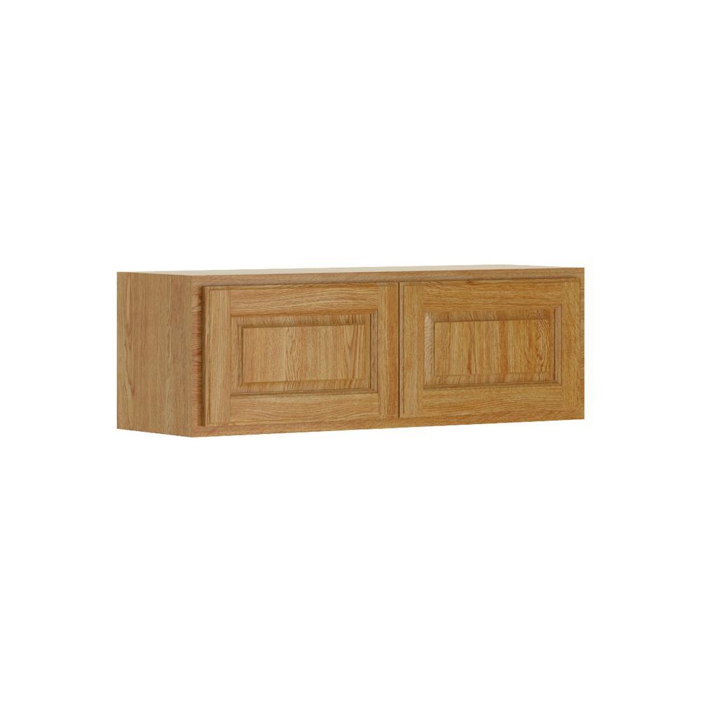Madison Base Cabinets In Medium Oak: Hampton Bay Madison Assembled 36x12x12 In. Wall Bridge