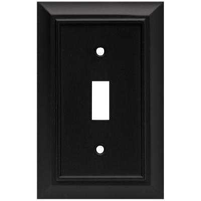 Black 1-Gang Toggle Wall Plate (1-Pack)