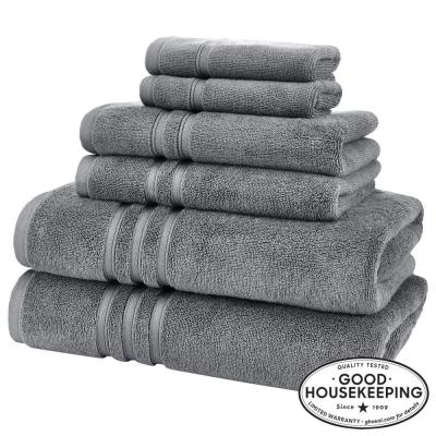 Turkish Cotton Ultra Soft 6-Piece Towel Set in Charcoal
