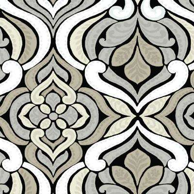 Black and Gray Tile Outdoor Fabric by the Yard