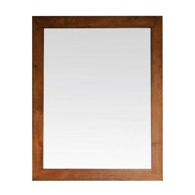 Legacy 36 in. x 30 in. Beveled Edge Mirror in Golden Burl