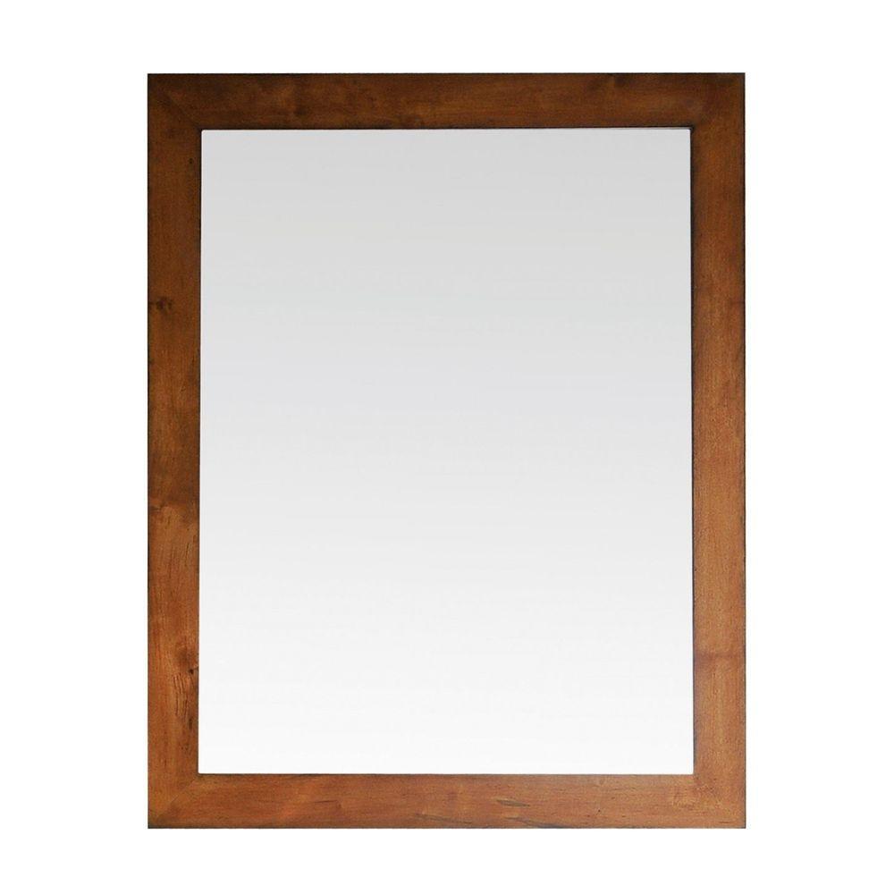 Avanity Legacy 36 in. x 30 in. Beveled Edge Mirror in Golden Burl