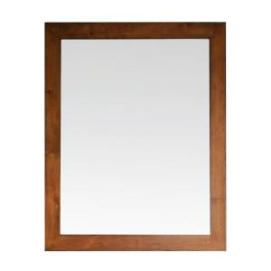 Avanity Legacy 36 inch x 30 inch Beveled Edge Mirror in Golden Burl by