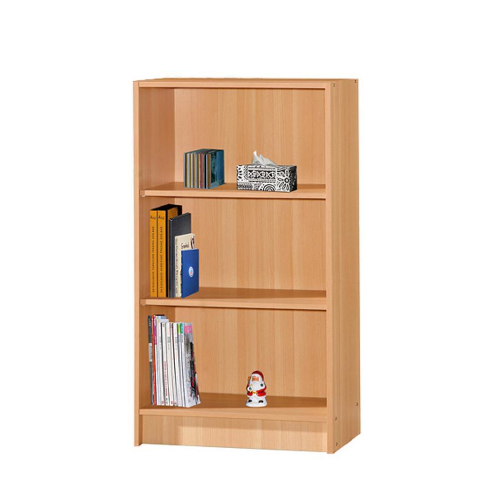 HODEDAH 3-Shelf, 35 in. H Beech Bookcase HID3WD BEECH