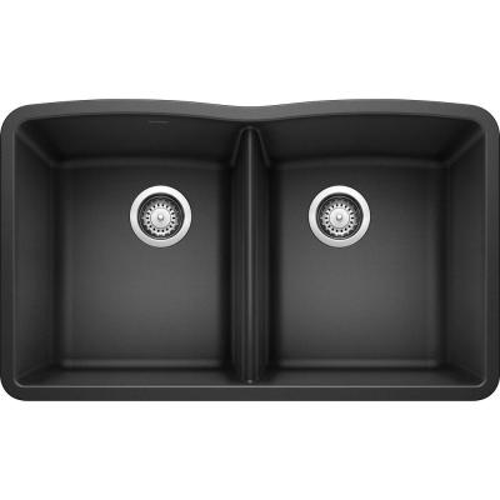 DIAMOND Undermount Granite Composite 32.06 in. 50/50 Double Bowl Kitchen Sink in Anthracite