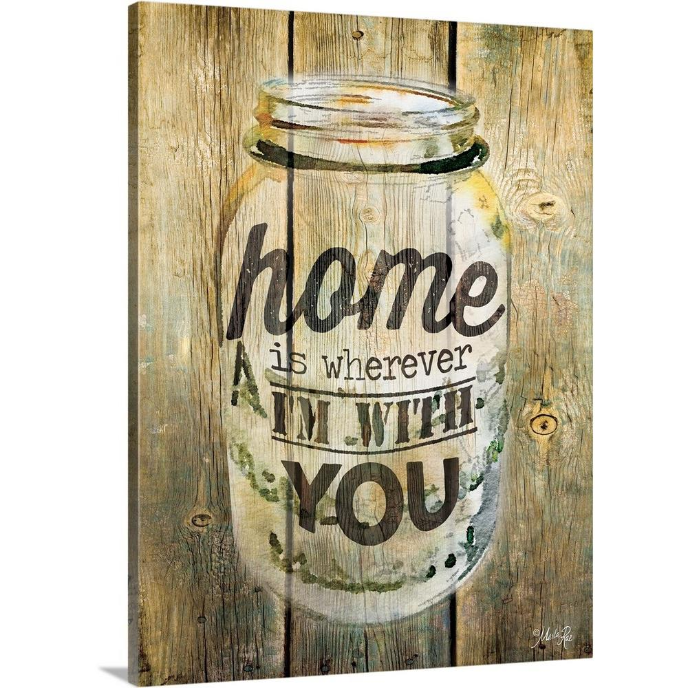 """""""Home is Wherever I'm With You"""" by Rae Marla Canvas Wall"""