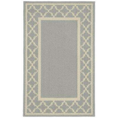 Moroccan Frame Silver Ivory 2 Ft 6 In X 3 10