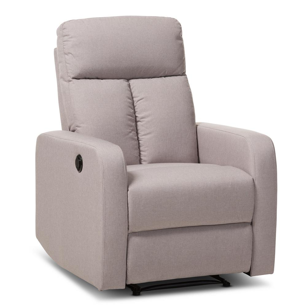 Garland Dark Brown Fabric Upholstered Power Recliner