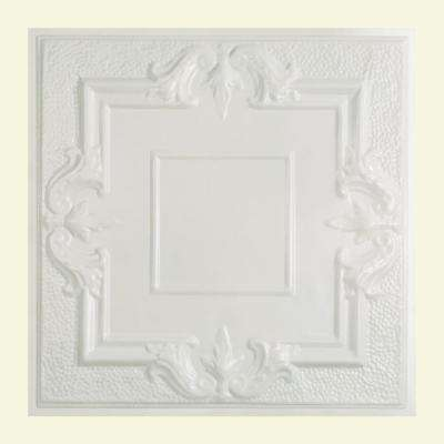 Niagara 2 ft. x 2 ft. Lay-in Tin Ceiling Tile in Matte White