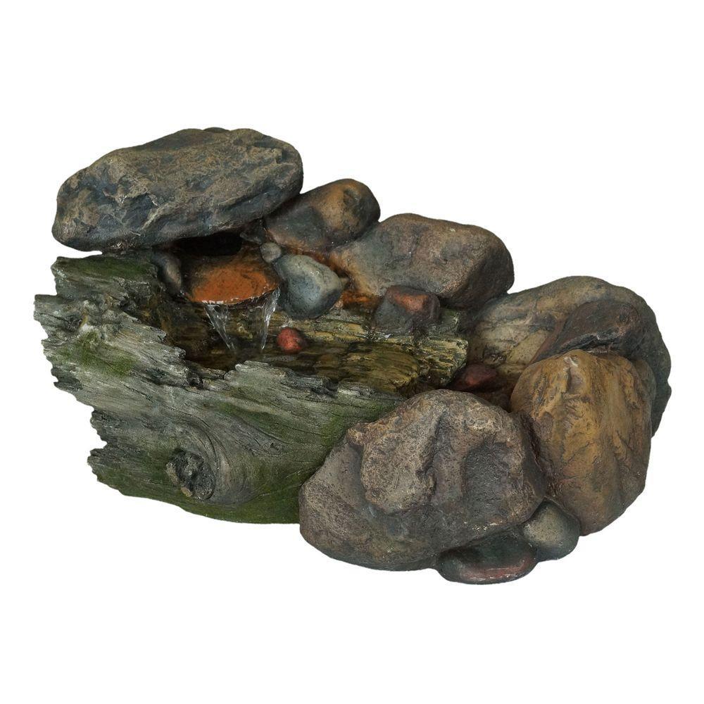 pure garden 14 in cascading stone fountain - Stone Garden Fountains