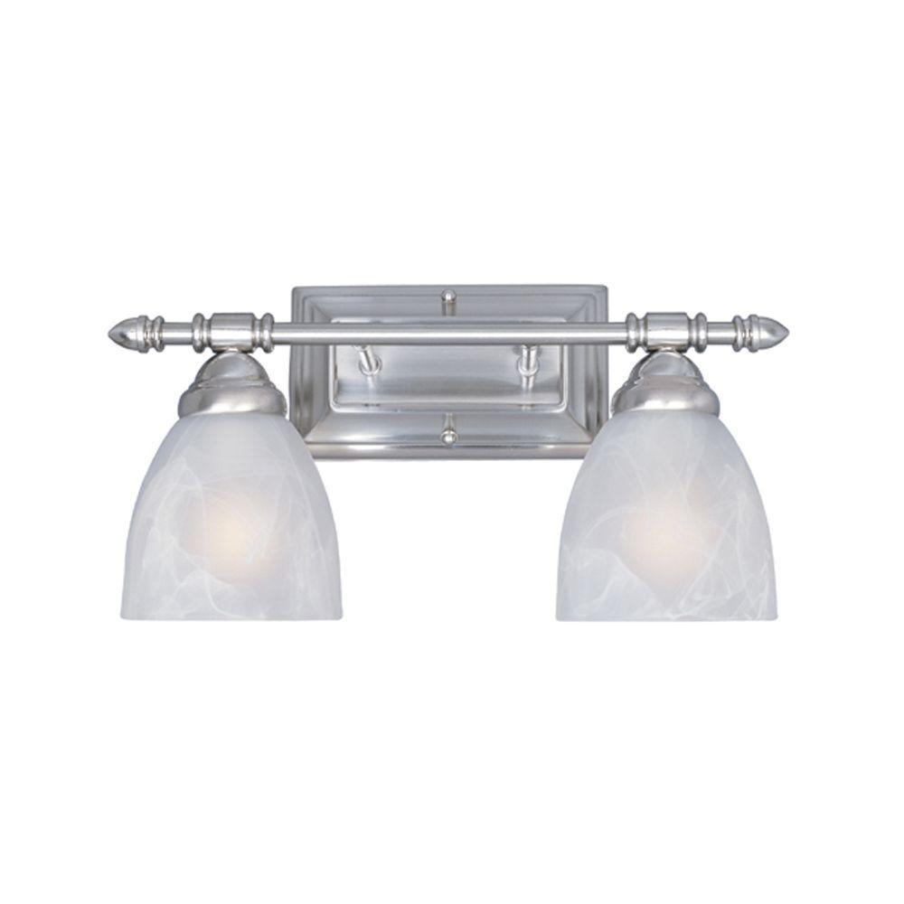 Branson Collection 2-Light Satin Platinum Wall Mount Vanity Light