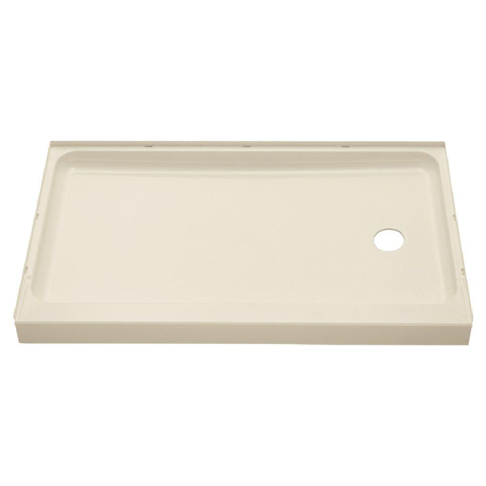 STERLING Ensemble 60 in. x 30 in. Single Threshold Shower Base with Right-Hand Drain in Almond-DISCONTINUED
