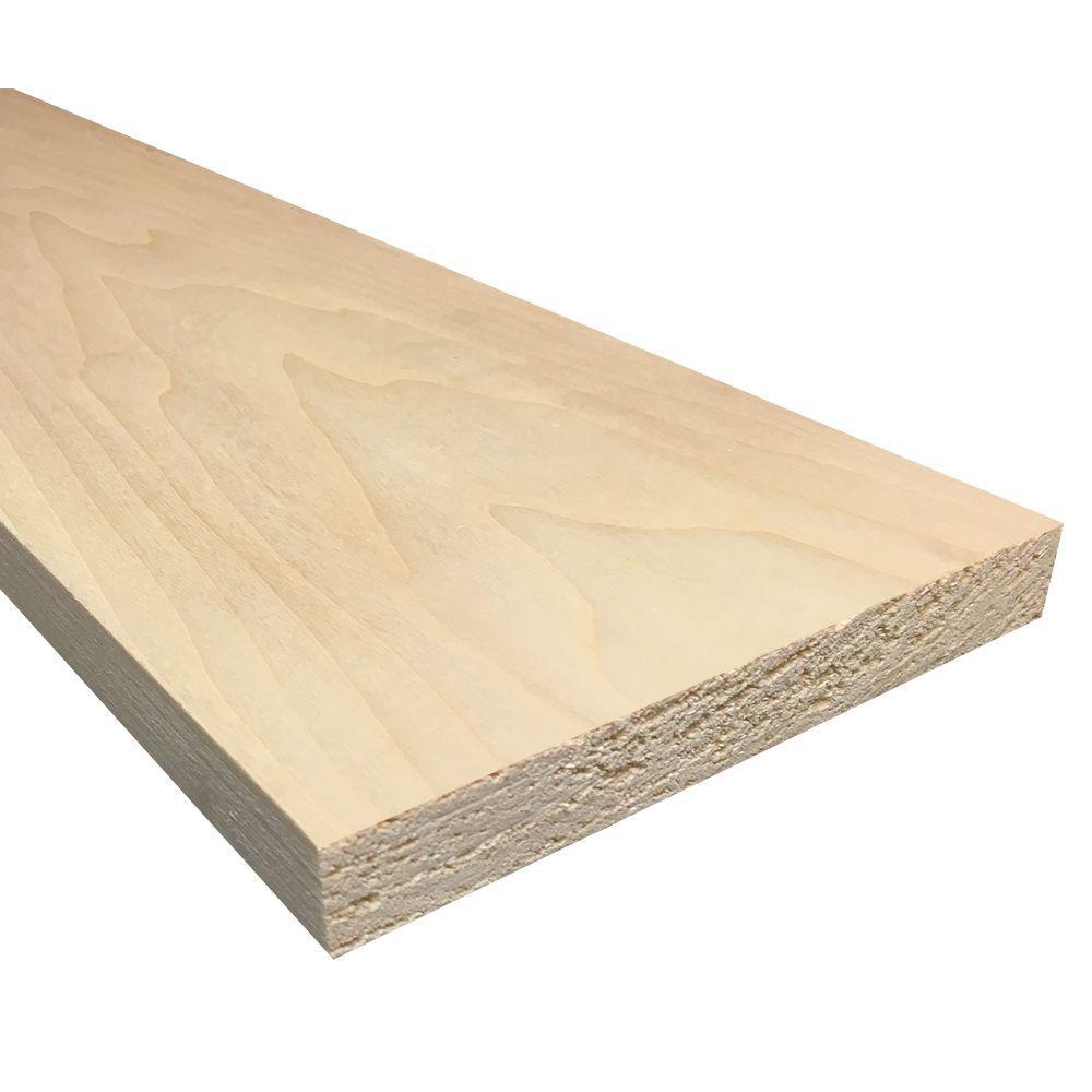 Weaber 1 in. x 6 in. x Random Length S4S Aspen Board