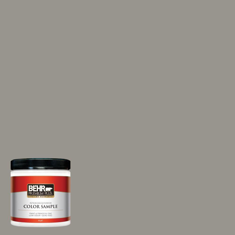 N360 4 Battleship Gray Flat Interior Exterior Paint And Primer In One Sample