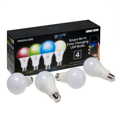 PRISMA 1050 75-Watt Equivalent Color and White A21 Smart LED Light Bulb (4-Pack)