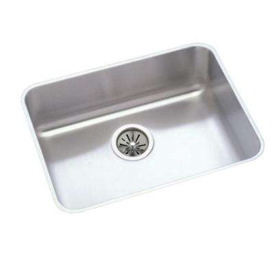 Lustertone Perfect Drain Undermount Stainless Steel 24 in. Single Bowl Kitchen Sink