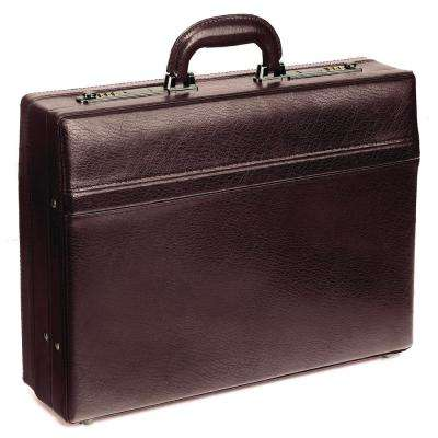 17.5 in. Expandable Burgundy Attache Case
