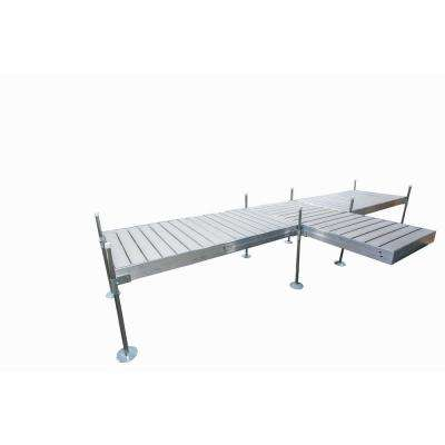 8 ft. Shore T-Style Aluminum Frame with Decking Complete Dock Package