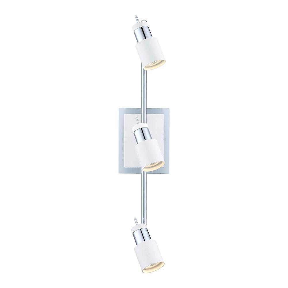 Davida 22.84 in. Matte White/Chrome Halogen Track Lighting Kit