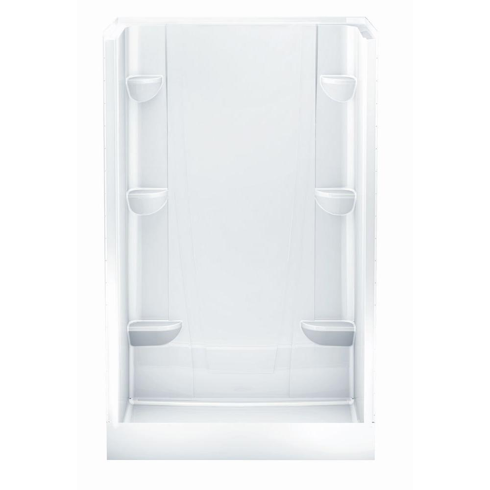 Aquatic a2 34 in x 48 in x 76 in shower stall in white for Bathroom partitions home depot