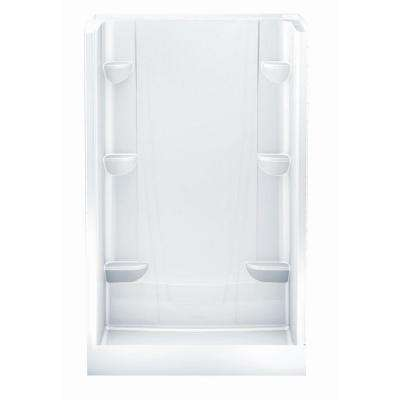 A2 34 in. x 48 in. x 76 in. Shower Stall in White