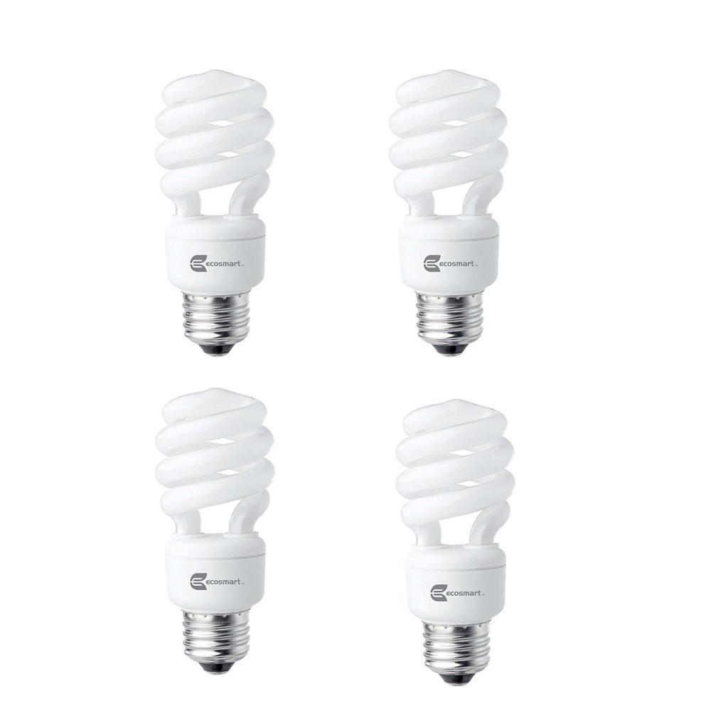 ecosmart 60 watt equivalent spiral non dimmable cfl light bulb