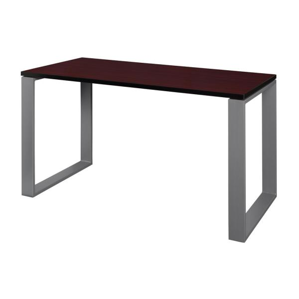 Regency Structure 42 in. x 24 in. Mahogany/Grey Training Table STT4224MHGY