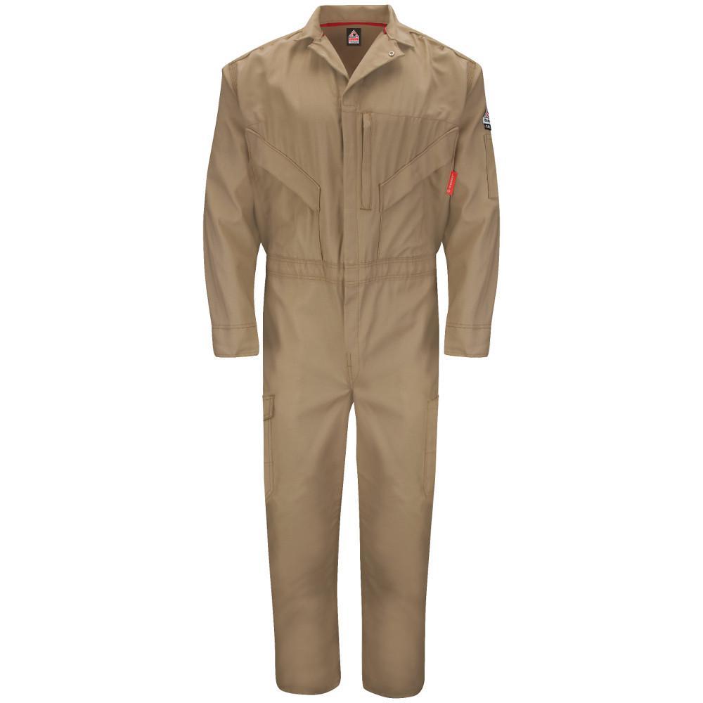 iQ Endurance Men's Size 60 Khaki Premium Coverall