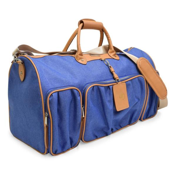 f6c5958968d2 The 2-Tone Collection 11 in. Denim Blue Lightweight Duffel Bag