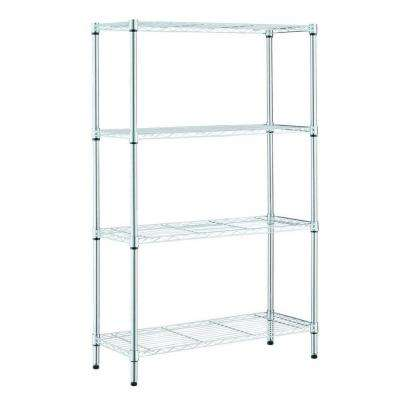 Chrome Wire 4-Shelf 36 in. x 14 in. x 54 in.